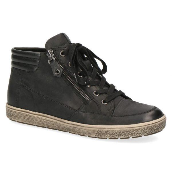 C042 Caprice half hoge sneaker zwart nubuck