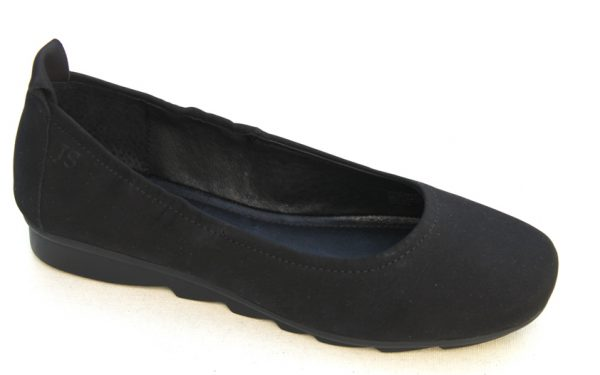 JSD005 Josef Seibel ballerina zwart nubuck
