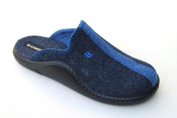 """WP007 Romika slipper """"Mokasso"""" blauw combi"""