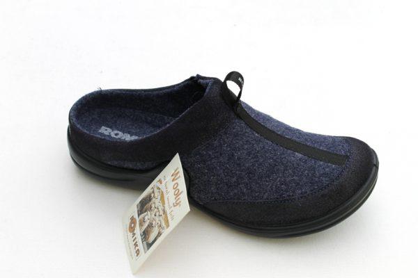 """WP012 Romika slipper """"Maddy"""" donkerblauw woollite stof"""