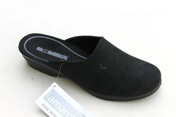 "WP020 Romika slipper ""Remo 122 FR"" zwart alcantara"