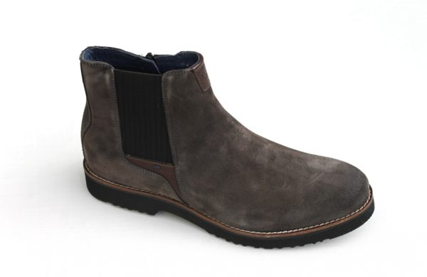 SH008 Sioux Sioux Chelsea boot met rits taupe suède