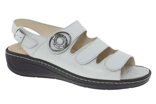 Fidelio verstelbare klittenband sandaal wit leer