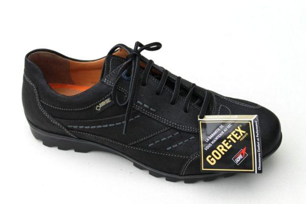 """FM002 Fretz Men sneaker veterschoen zwart gevet nubuck met """"Goretex"""""""