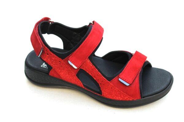 Fidelio Halux sandaal rood nubuck