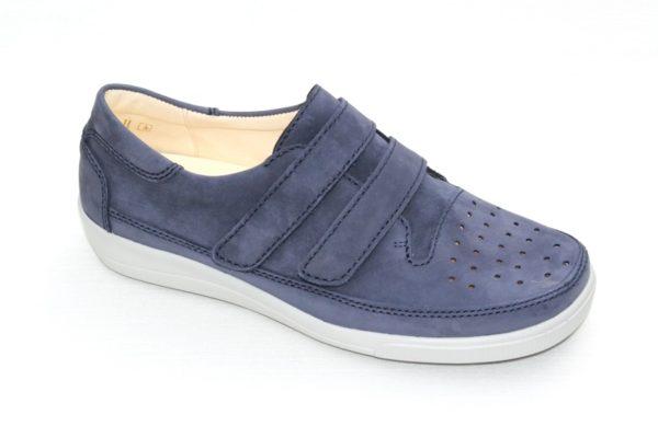 Christian Dietz Pure Welness klittenbandschoen jeansblauw nubuck
