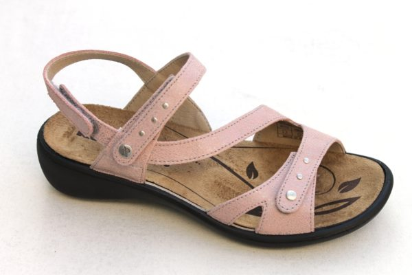 "WS009 Westland (Romika) verstelbare klittenband sandaal ""Ibiza"" zachtroze"
