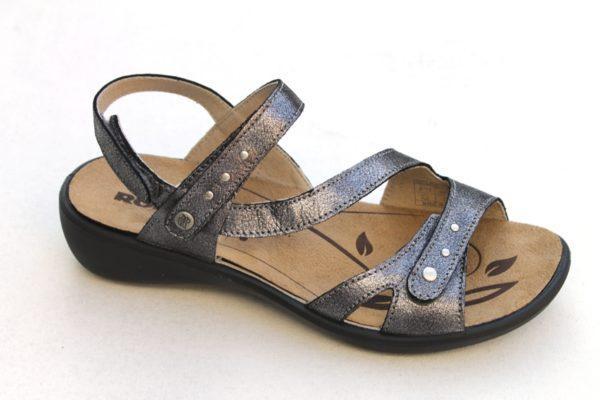 """Westland (Romika) verstelbare klittenband sandaal """"Ibiza"""" antraciet metallic"""