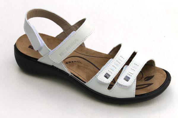 Westland Romika verstelbare klittenband sandaal Ibiza offwhite leer