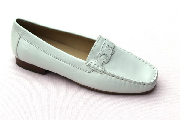 """S006 Sioux mocassin """"Colina"""" wit leer"""