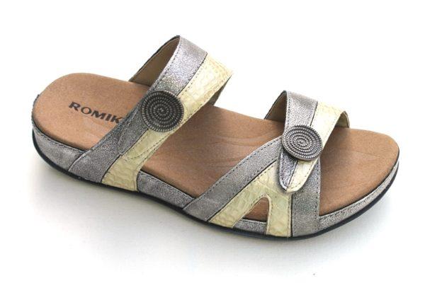 """Romika verstelbare voetbedslipper """"Fidschi"""" bronze metallic"""