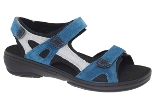 Fidelio sportieve verstelbare sandaal jeansblauw suède