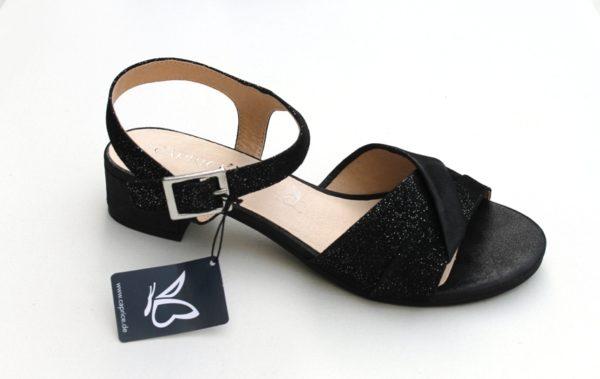 C022 Caprice sandaaltje zwart glans nubuck