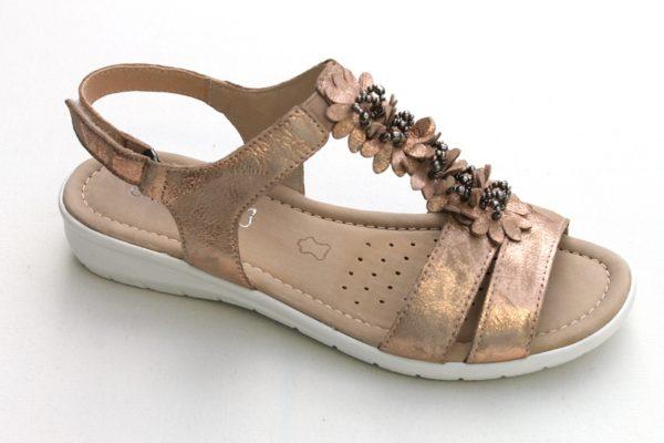 C042 Caprice sandaaltje rosé metallic