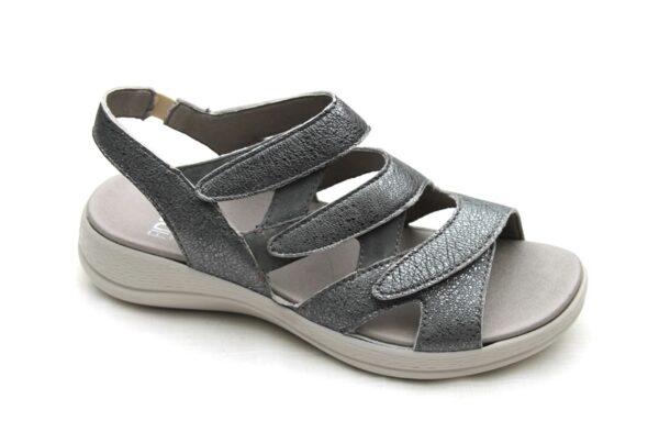 F007 Fidelio verstelbare sandaal zilvergrijs metallic