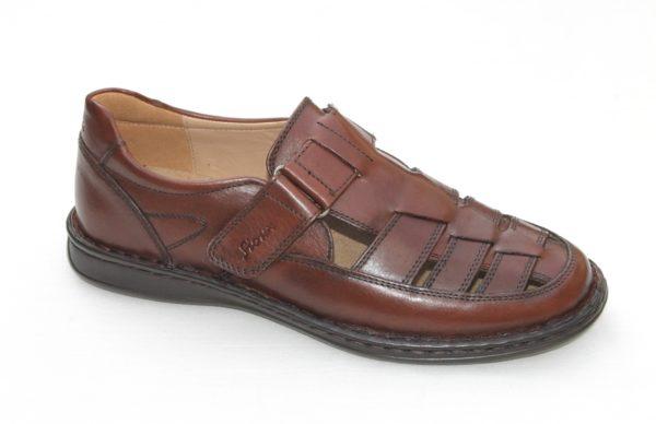"Sioux dichte sandaal ""Elcino"" bruin leer"