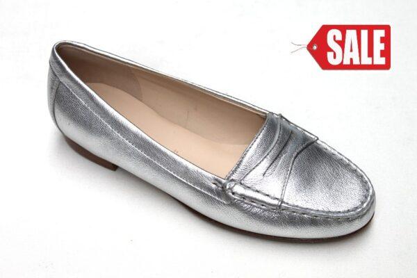 Sioux mocassin Selbia zilver metallic