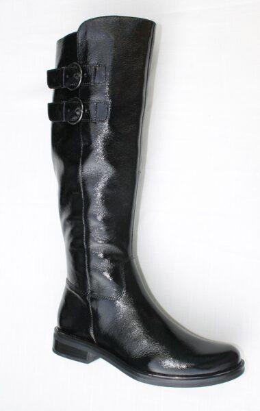 Caprice knielaars zwart lak art. 25530-23 017