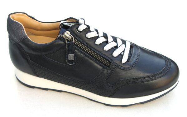 H012 Helioform sneaker donkerblauw leer