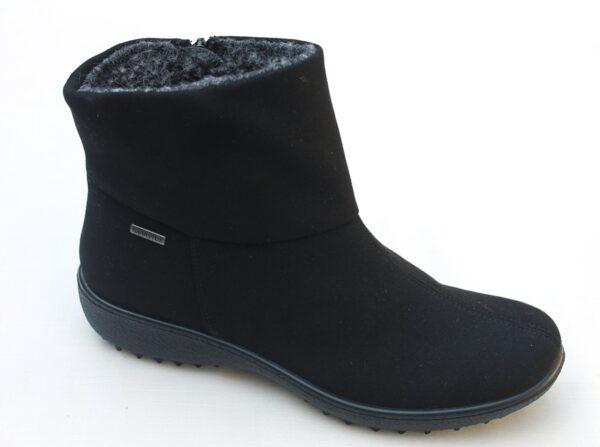 WS002 Westland enkellaarsje waterproof zwart alcantara
