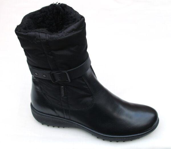 WS005 Westland zwart kort laarsje waterproof