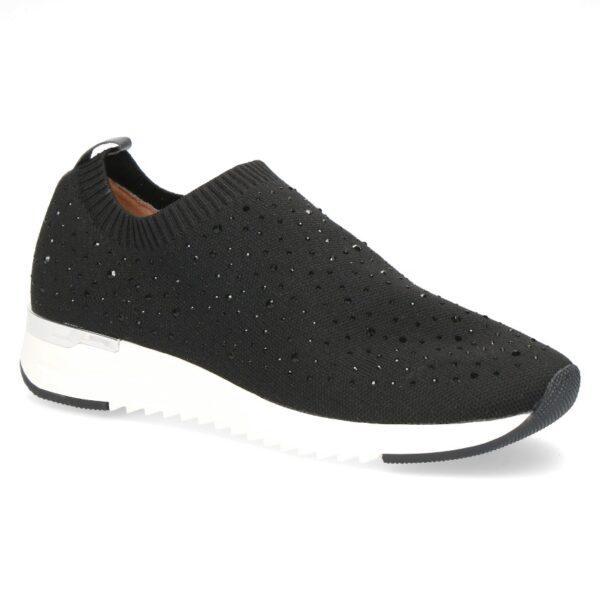 C002 Caprice stretch instap sneaker zwart