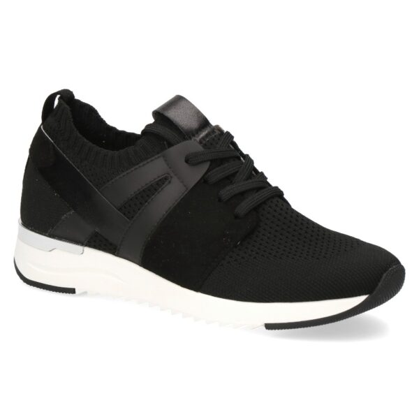 C004 Caprice stretch sneaker in zwart