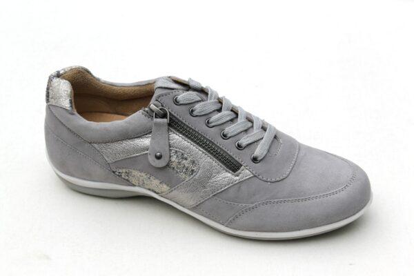 Helioform sneaker grijs suède