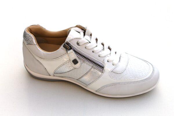 Helioform sneaker wit leer met zilver