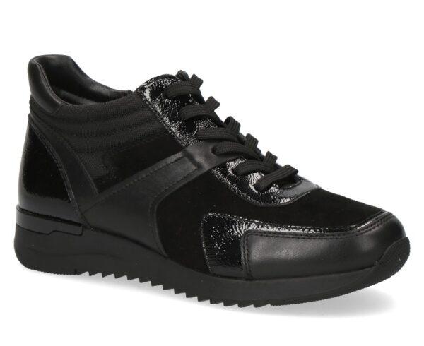 Caprice sneaker halfhoog zwart art. 009-25201-27-019