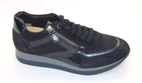 Helioform sneaker donkerblauw suède
