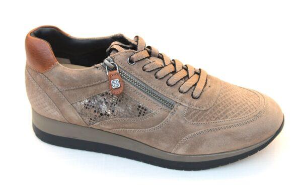 Helioform sneaker taupe suède